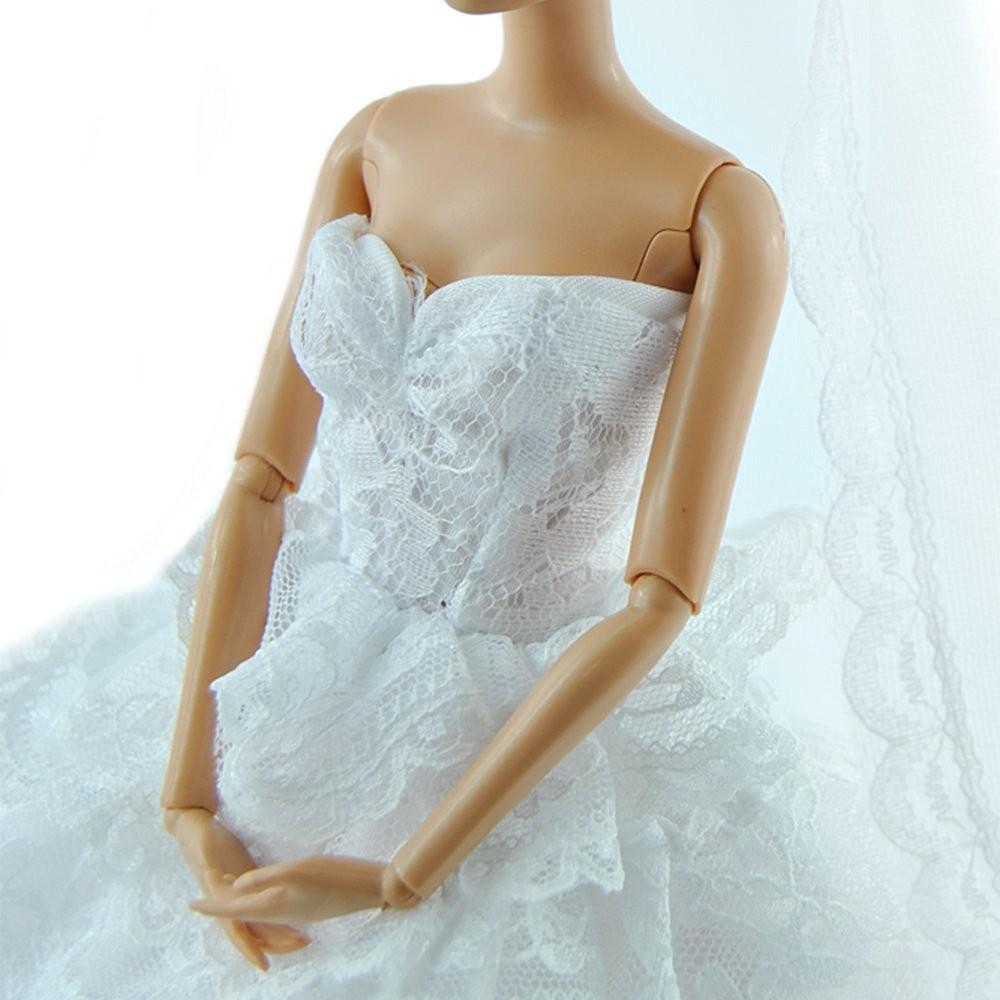 TopSun Handmade White Wedding Gown Dress and Formal Suit Clothes ...