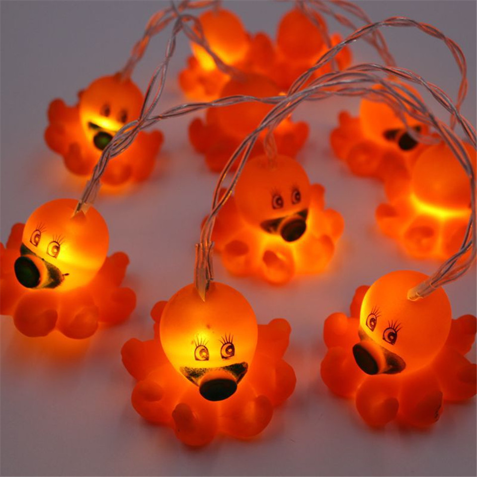 cute octopus led sting light kids room decoration light birthday party decoration cartoon lighting ornaments for Christmas tree