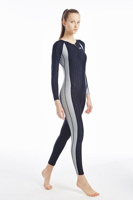 Nsa Girls Swimming Shark Skins One Piece Swimsuit Triathlon Wetsuit