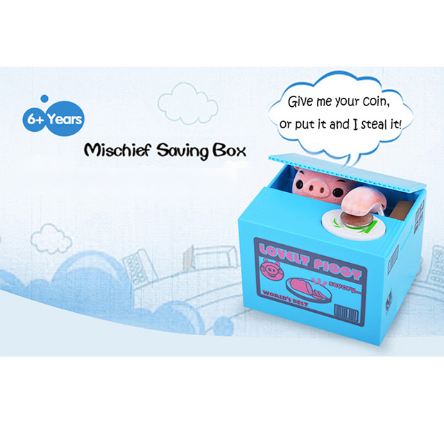 Creative Electric Steal Money Pig Coins Case Automatic Stole Coin Toys Money Saving Tool Money Case With Sound Effects