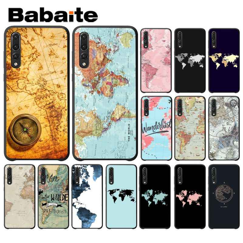 Babaite vintage old world map Printing Drawing Phone Case for Huawei Mate10 Lite P20 Pro P9 P10 Plus Mate9 10 Honor 10 View 10