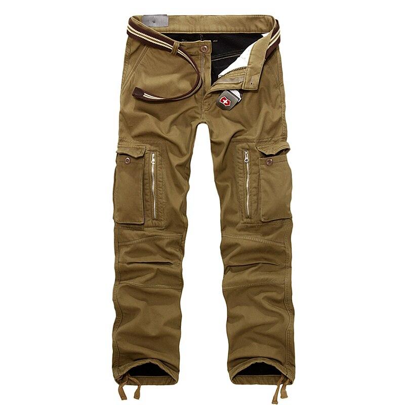 Зимние теплые модные брендовые мужские спортивные повседневные мужские джоггеры камуфляж militar плавки армейские брюки-карго большой размер 40
