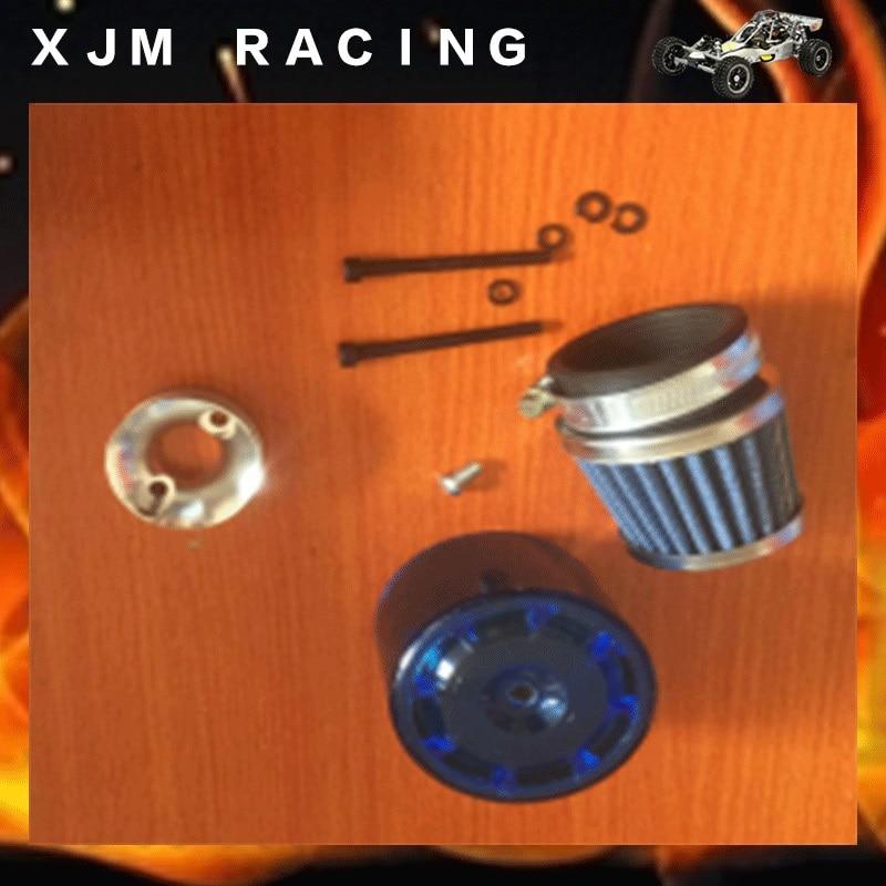 Air filter (piastic cover+base) set for 1/5 rc car hpi baja 5b/5t/5sc engines parts цена