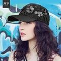 Леди Весной и Летом Бейсбол Шляпы Женский Досуг Моды Блестками Шляпа Женщины Peaked Вс Cap Цветок Украшения B-4584