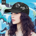 Lady Spring and Summer Baseball Hat Female Leisure Fashion Sequined Hat Women Peaked  Sun Cap Flower Decoration B-4584