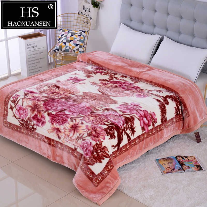 LUXURY ULTRA PLUSH WARM  2 PLY 3.5 kg BLANKET BED  MINK THROW KING SIZE