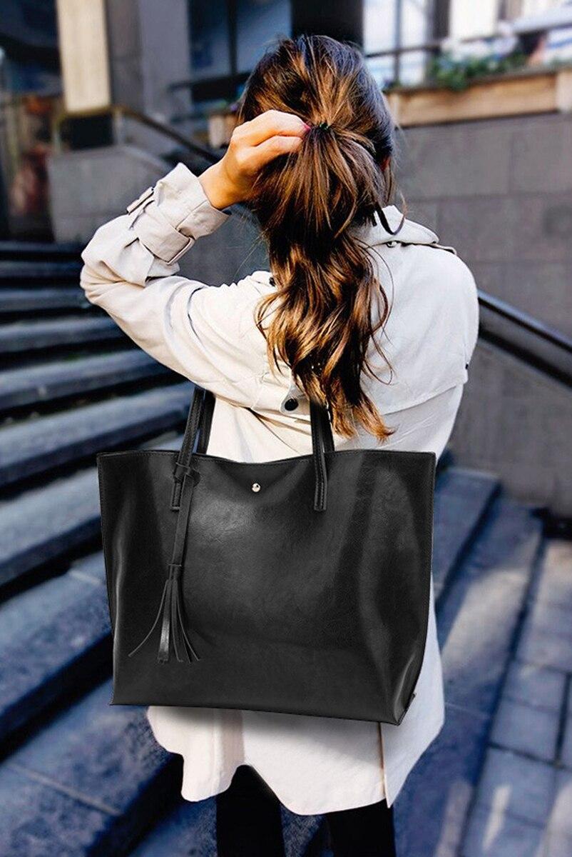 Nevenka Leather Handbag Women Casual Totes Female Shopper Ladies Shopping Bags Large Capacity Bags Vintage Bag for Women 201805