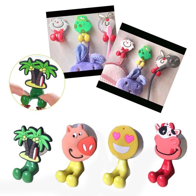 Silicone Durable Wall Type Sucker Plug Hook Multipurpose Fashionable Creative Cartoon Animals IPcs Toothbrush Holder