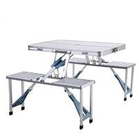 Открытый Алюминий Разделение Раскладные столы и стулья высокое качество Портативный барбекю Открытый Стол Для Пикника