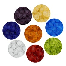 SAUVOO 750 sztuk/paczka cukierkowe kolory matowe szkło koraliki 4mm luzem ręcznie robione koraliki szklane dla DIY kobiety biżuteria ustalenia F7549