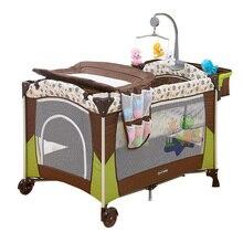 plegable cama de beb cuna porttil con mesa para cambiar paales paales nio viaje juego de cama para beb cuna