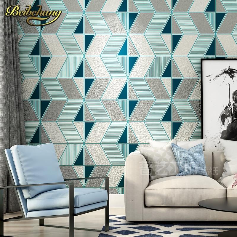 beibehang papel de parede 3d Deer skin geometry wall paper roll wallpaper for Living Room flooring