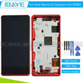 New For Sony xperia z3 compact display Touch Screen Digitizer for sony z3 mini D5803 LCD screen Assembly + Red Frame/Tools