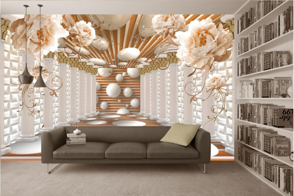 3d wallpaper for room Roman column art flower space murals custom 3d wallpaper flower wallpaper3d wallpaper for room Roman column art flower space murals custom 3d wallpaper flower wallpaper