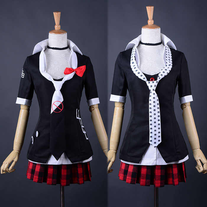 Danganronpa Cosplay Junko Enoshima Emboitement Inushio Kimuchi Symbol Mark Sign Dangan-Ronpa Trigger Happy Havoc Cosplay Costume