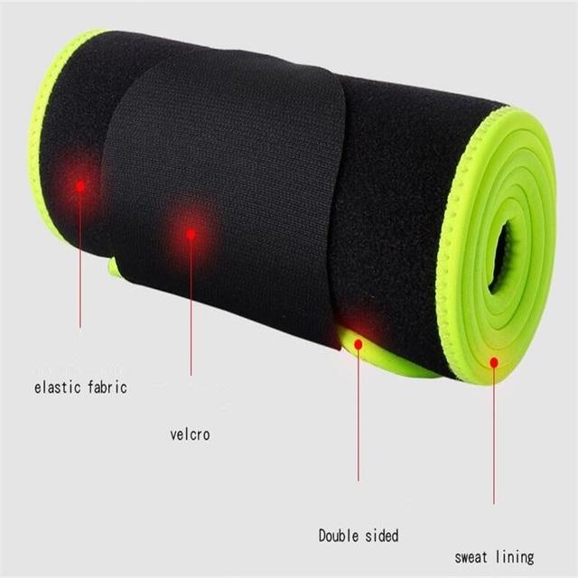 Unisex Black Waist Belt for Sport