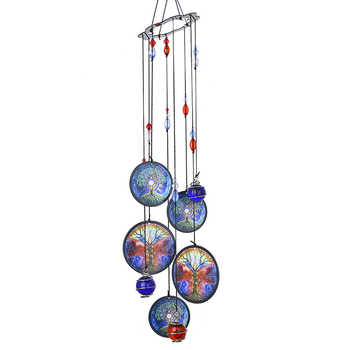 H&D Wind Chimes Outdoor Decor,18'' Metal Memorial Windchimes,Tree of Life Sympathy Wind Chimes Gift for Garden Home Yard Hanging