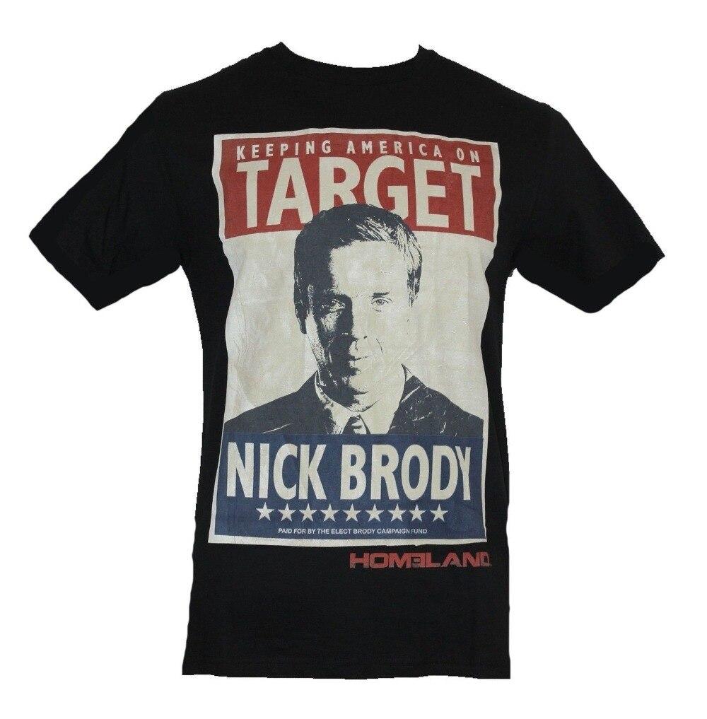 Anime Print Tee Homeland Mens T-Shirt -Keeping America On Target Nick Brody Poster Image T-Shirt Men T Shirt Tops Tees