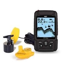 LUCKY FF718Li Wired Wireless Interchangeable Fish Finder 328ft 100m Depth Fishfinder Sonar Echoing Sounder Fish Location