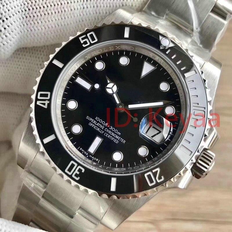 Lunette en céramique hommes Top marque de luxe AAA 2813 mécanique en acier inoxydable montre automatique sport auto-vent montres montres