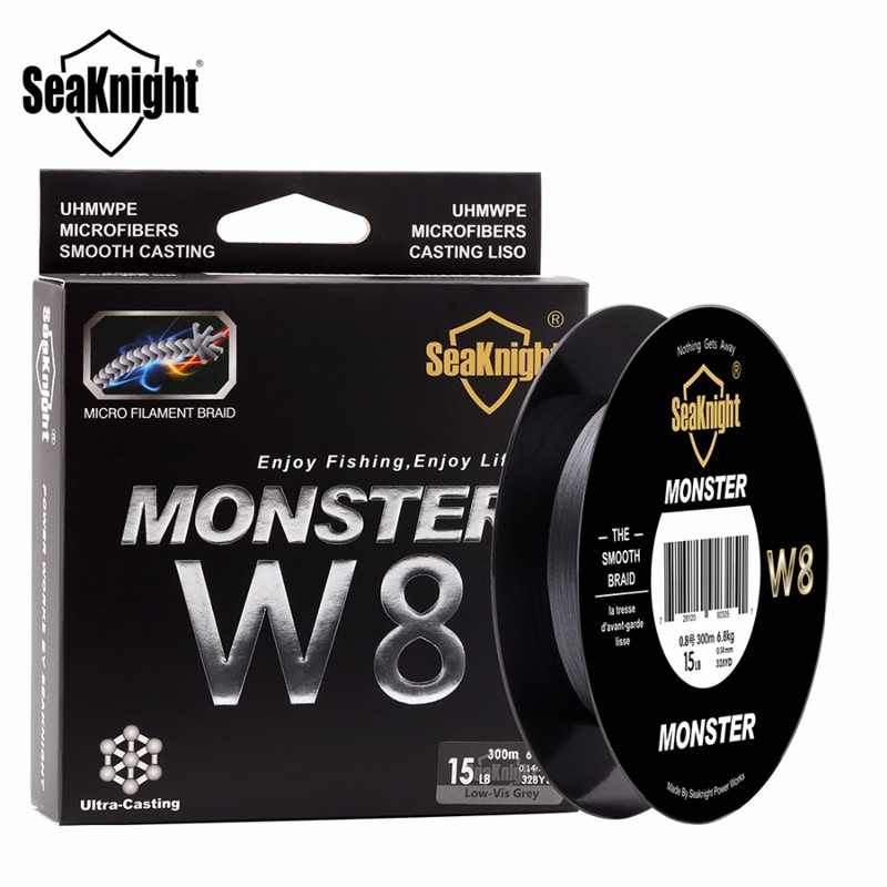 SeaKnight Monster W8 300M PE Braided <font><b>Line</b></font> <font><b>8</b></font> <font><b>Strands</b></font> Multifilament <font><b>Fishing</b></font> <font><b>Line</b></font> <font><b>Fishing</b></font> Tackle <font><b>8</b></font> Weaves Strong <font><b>Line</b></font> Wire Cord