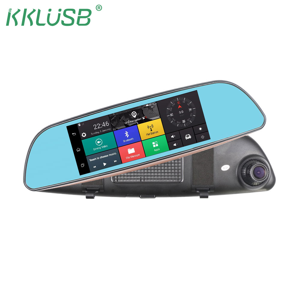 KKLUSB Android Car DVR 3G Rearview Mirror Dual Lens Recorder Camera Full HD 1080P Dash Cam 6.86  GPS Registrar Navigation dvr dual dash camera car dvr with gps car dvrs car camera dvr video recorder dash cam dashboard full hd 720p portable recorder dvrs