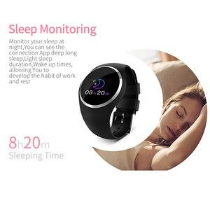 "Image 5 - SCOMAS النساء ساعة ذكية 0.96 ""LCD ضغط الدم مراقب معدل ضربات القلب الإناث الفسيولوجية تذكير IP67 مقاوم للماء Smartwatch"