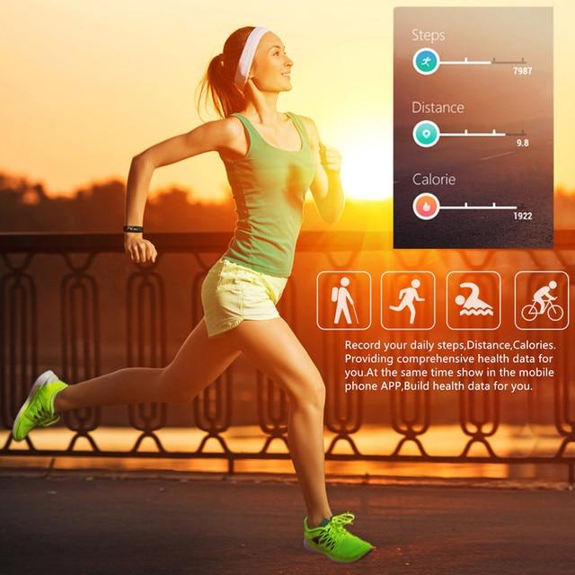 Фото новый бренд uniqboom смарт браслет с цветным дисплеем фитнес