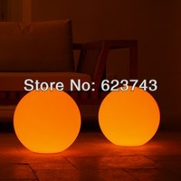 Free Shipping Wireless Charging Multi Color Dia15cm LED Ball Table Lamp Waterproof Rechargeable LED Globe Night
