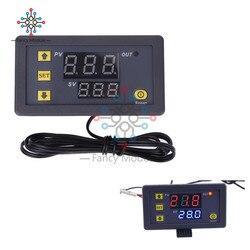 12 V 20A Mini Digital Temperatur Thermostat Regler Rot und Blau LED Display Sonde Sensor W3230 0,1 Celsius accurac