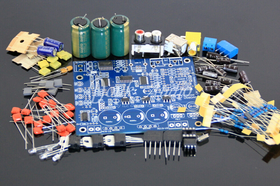 CS8416+CS4398 DAC Board with USB coaxial 24/192K AC15V 32K-192K/24BIT DIY  Kit