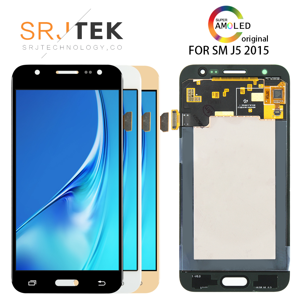 ORIGINAL 5.0'' SUPER AMOLED for SAMSUNG Galaxy J5 2015 <font><b>Display</b></font> <font><b>J500</b></font> J500H LCD J500FN J500F SM-J500F Touch Screen Replacement image