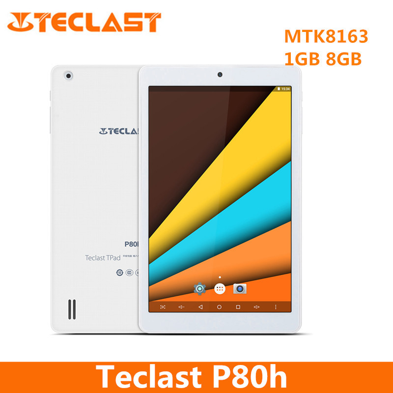 Teclast P80h 8 inch Android 7.0 Tablet PC MTK8163 64bit Quad Core 1.3GHz WXGA IPS Screen 1GB 8GB Dual WiFi GPS Bluetooth 4.0 in stock teclast x70r 7 ips screen android 5 1sofia x3 c3230 64 bits 8gb 3g phone tablet wcdma tablet pcs with gps bluetooth