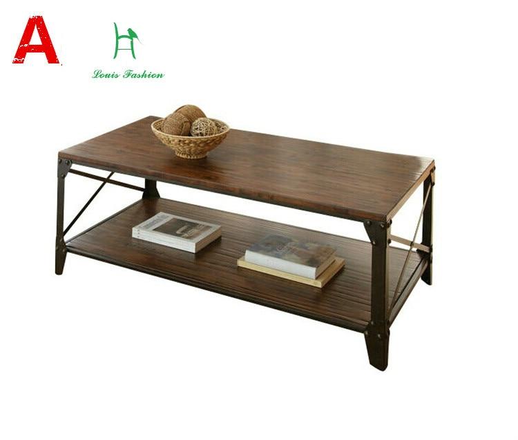 Coffee Table Minimalist Retro: Louis Fashion American Minimalist Retro Old Iron Tea Table