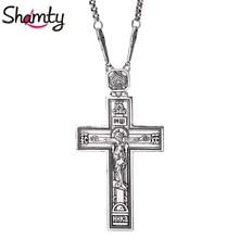 Collier croix Shamty, roi de gloire jésus, pendentif antique en argent Rose or, collier, articles chrétiens, cadeau