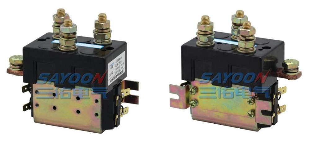 цена на SAYOON DC 120V contactor CZWT150A , contactor with switching phase, small volume, large load capacity, long service life.