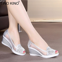 Summer Sandals Women Hollow Out Slip On Wedges Shoes Platfor