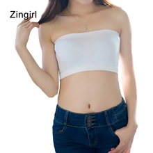 Zingirl Sexy Slim Solid Brief Tube Top Women Casual Soft Breathable Modal Cropped Mujer Seamless Strapless Bandeau Female