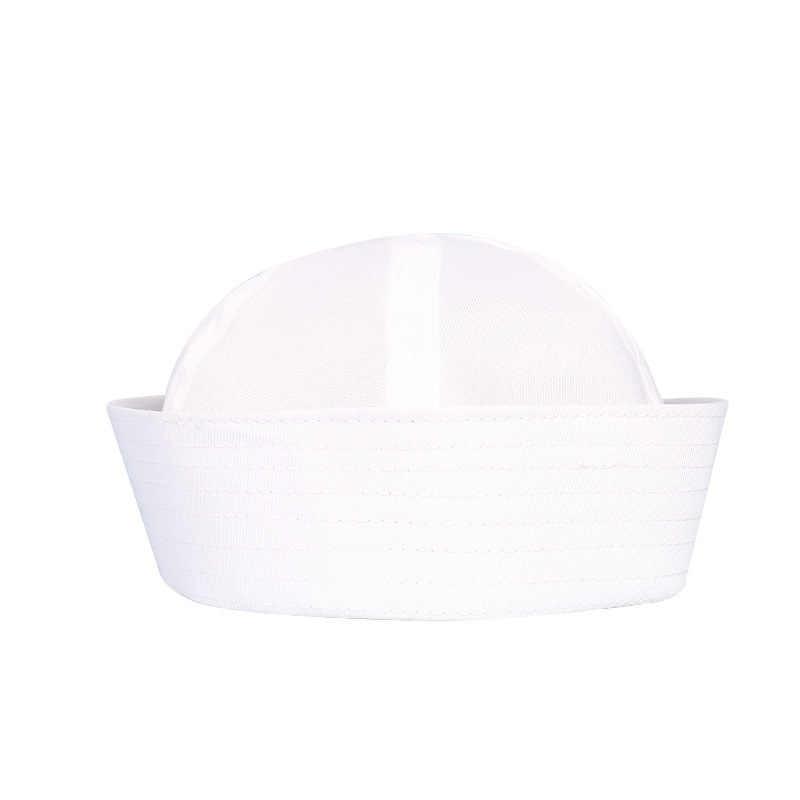 Mode déguisement Costume de fête Cosplay blanc marin marine chapeau casquette avec ancre accessoires enfants Costume de marin homme adulte enfant chapeau
