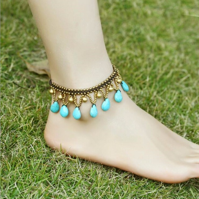 Onnea 2017 Long Beach Summer Vacation Ankle Bracelet Sandals Y Leg Chain Boho Beads Braided Anklets