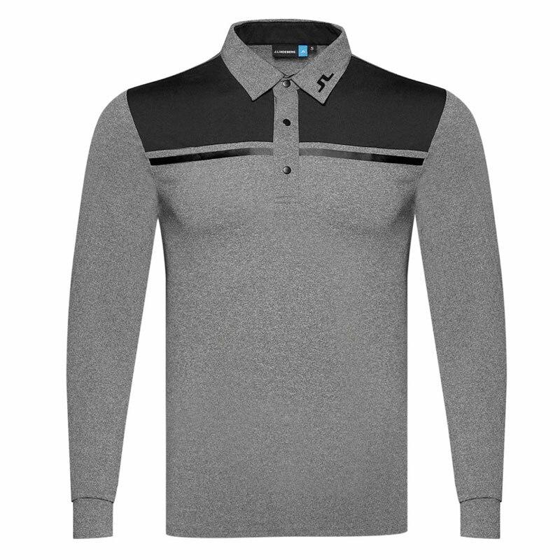 Cooyute liquidation vente nouveau T-shirt de Golf à manches longues pour hommes JL vêtements de Golf au choix loisirs chemise de Golf en coton livraison gratuite