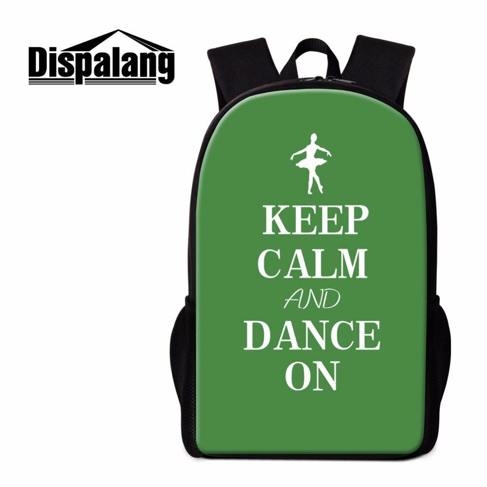 Dispalang рюкзак Книги по искусству Балетные костюмы принт BookBag для детей персонализированные Школьные ранцы для детей Повседневное Back Pack для у...