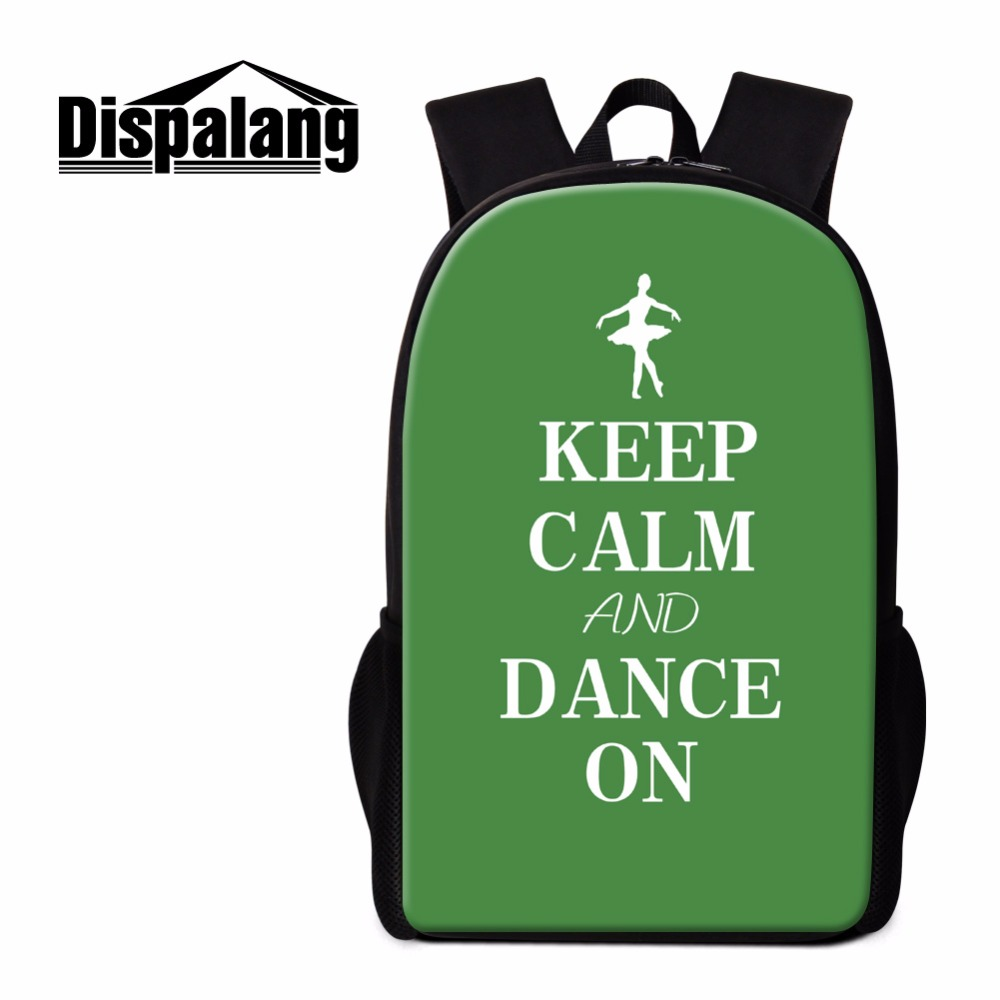 Dispalang Backpack Art Ballet Print Bookbag for Children Personalized School Bags for Kids Casual Back Pack for Primary Students
