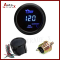 "2 ""52mm Preto Car Motor LED Azul Digital Medidor de Pressão do Óleo Com Sensor De Psi"