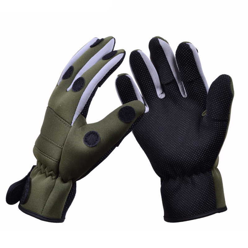 Tsurinoya keep warm anti slip winter fishing gloves for Neoprene fishing gloves