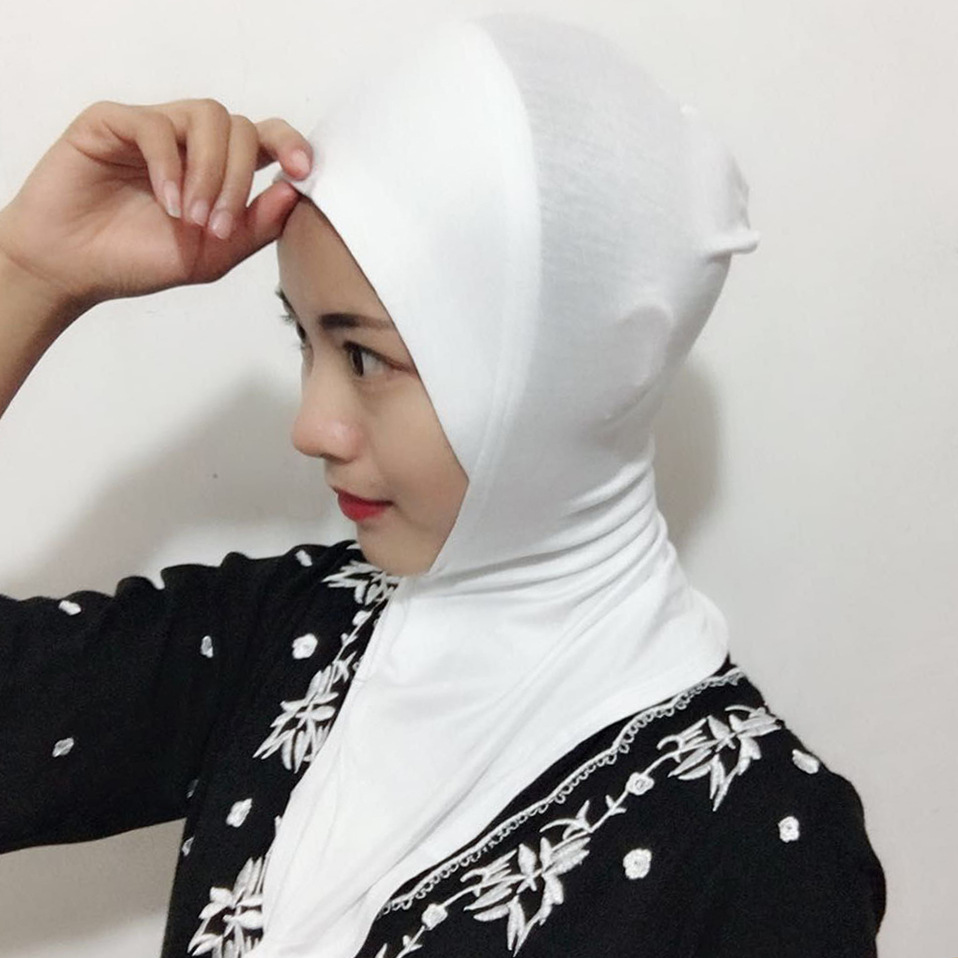 Modal Sale 15 Colors Full Cover Women Muslim Cotton Hijab Islamic Under Scarf Shawls And Hijabs Comfortable