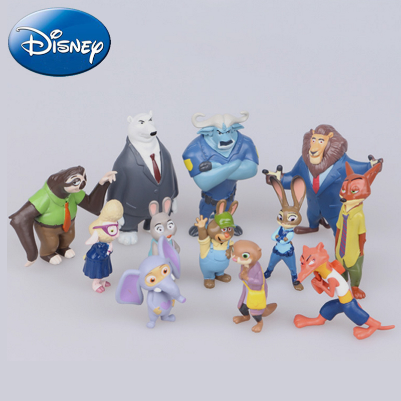 12Pcs set Pvc Action figures Toys Doll Cosplay Movie Zootopia Nick Fox Wilde Judy Hopps Cartoon Children 39 s Animals Toy Kids Gift in Action amp Toy Figures from Toys amp Hobbies