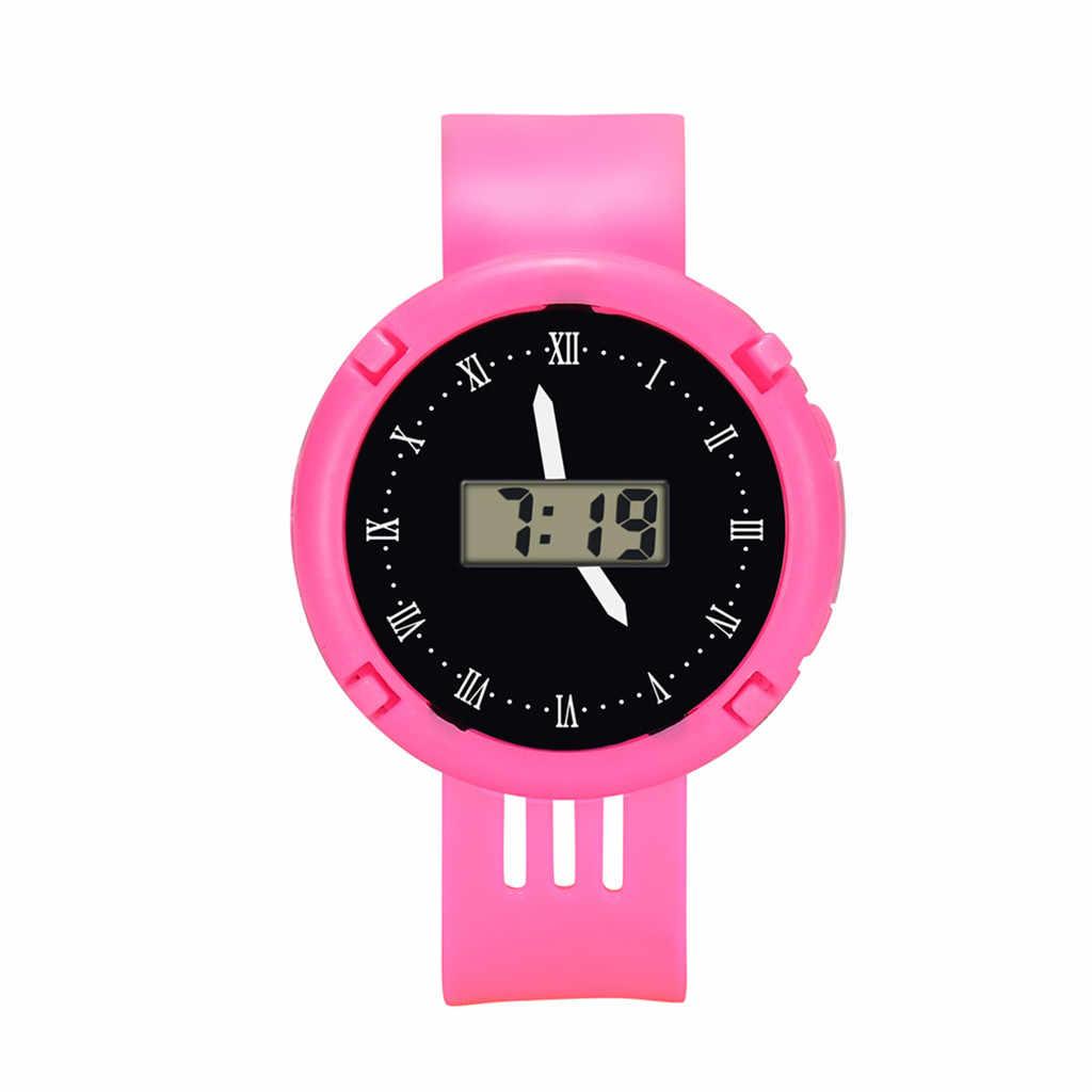 ילדי בנות אנלוגי דיגיטלי ספורט LED אלקטרוני עמיד למים שעון יד חדש