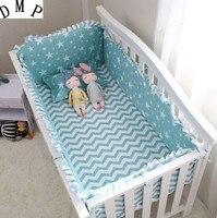 6 PCS Berço Jogo de Cama Do Bebê Character Berço roupa de Cama de Algodão  (4 amortecedores + folha + fronha)