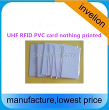 free sample 5pcs iso18000-6c pvc tag uhf white card 860-960mhz passive Long range UHF RFID card with other type tag sample